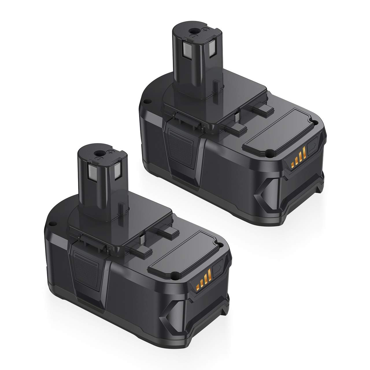Powerextra 2 Pack Ryobi ONE+ 18V 5.0Ah Li-Ion Battery Replacement for Ryobi RB18L50 RB18L40 RB18L25 P108 P107 P122 P104 P105 P102 P103 P109 with LED Indicator