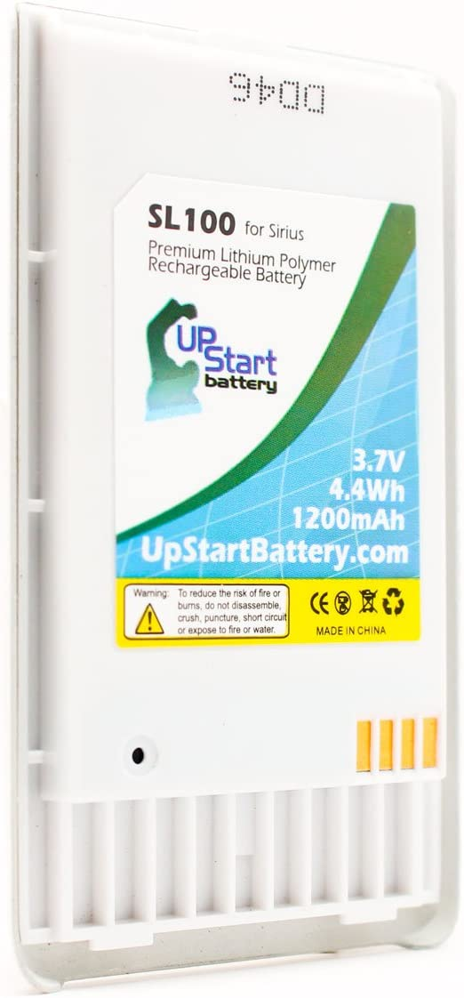 1400mAh Lifetime Warranty 3.7V 2x Sirius 01070000014 Battery Replacement