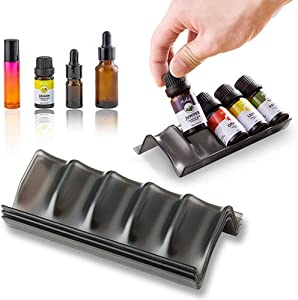 HANSGO Essential Oil Storage, 3PCS Essential Oil Holders Oils Rack Holds 15 Oil Bottles and Roller Balls for 5mL-15mL