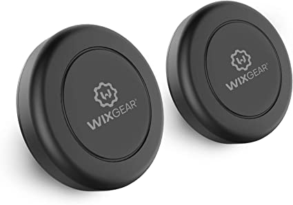 WizGear Universal Stick On Dashboard Magnetic Car Mount Holder for Cell Phones and Mini Tablets with Fast Swift-snap Technology Magnetic Mount Magnetic Cell Phone Mount 2 Pack