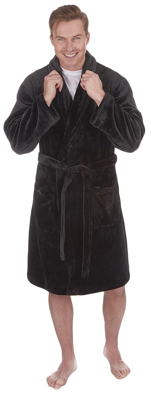 LUXURY MENS GENTS FULL LENGTH VELOUR FLEECE ROBE DRESSING GOWN HOUSECOAT ROBES + BELT SIZE S- XL Manufacturer