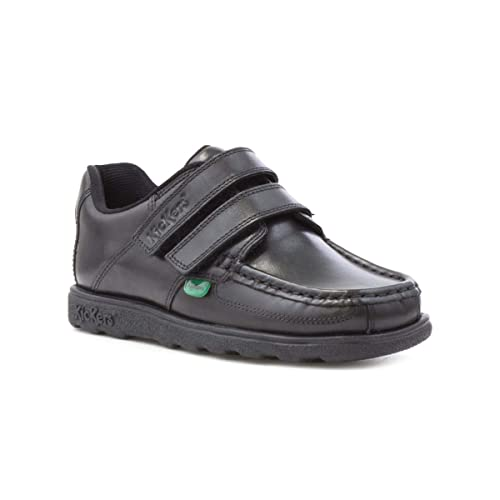 0584d95abb Kickers Fragma Boys Leather Shoe in Black: Amazon.co.uk: Shoes & Bags