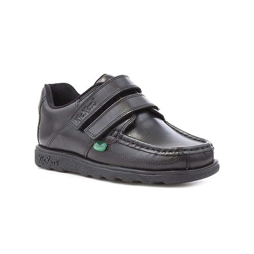 351012eb59610 Kickers Fragma Boys Leather Shoe in Black