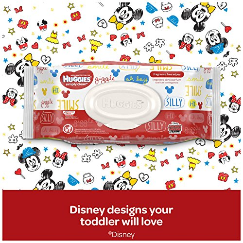 Large Product Image of HUGGIES Simply Clean Fragrance Free Baby Wipes, 11 Soft Pack (792 Count Total), Alcohol and Paraben Free