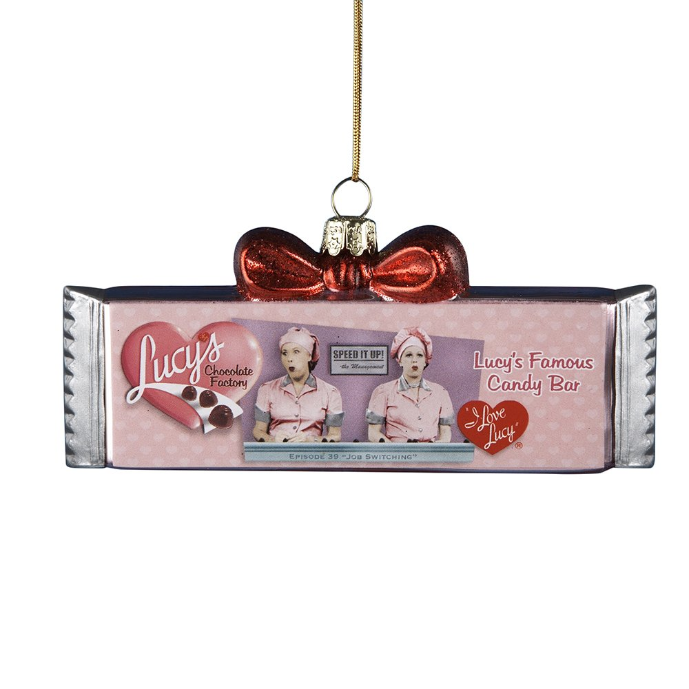 I Love Lucy Kurt Adler 5-Inch Glass Chocolate Bar Ornament LU4102