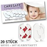 Sicher & zuverlässig! Steckdosensicherung mit Drehmechanik - Steckdosenschutz - Kindersicherung Baby Kleinkinder (20 Stück)