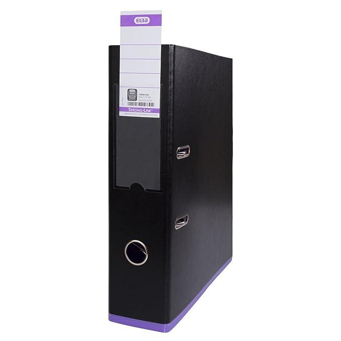Elba 100023556 myColour - Archivador (A4, PP, lomo de 8 cm, 10 unidades, colores surtidos): Amazon.es: Oficina y papelería
