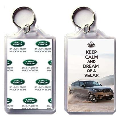 Keep Calm And sueño de un Velar llavero impreso en una ...