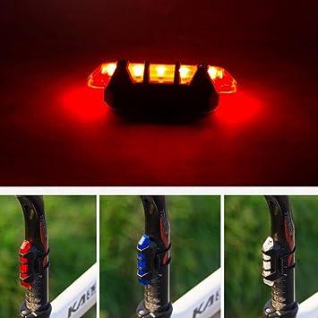 Voiks Luz Trasera para Bicicleta Recargable USB - Potente LED Faro Trasero Bici - Muy Luminoso y Fácil de Instalar 3 Colores Seguridad Ciclismo: Amazon.es: Deportes y aire libre