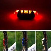 Voiks Luz Trasera para Bicicleta Recargable USB - Potente LED Faro Trasero Bici - Muy Luminoso y Fácil de Instalar 3 Colores Seguridad Ciclismo