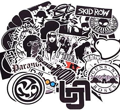 TUDUDU 50Pcs/Pack Negro Blanco Punk Rock Graffiti Pegatinas Niño ...