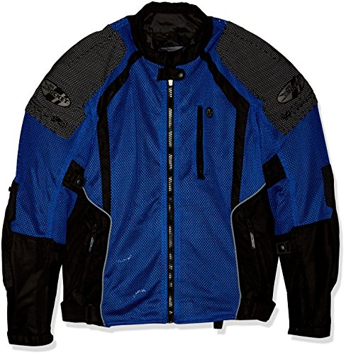 Joe Rocket 1516-4205 Phoenix Ion Men's Mesh Motorcycle Jacket (Blue, X-Large)