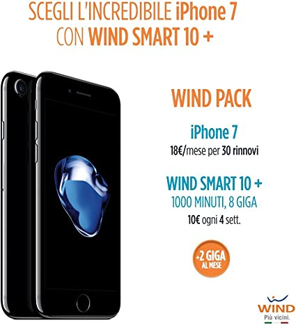 Smartphone iPhone 7 de Apple, de 128 GB, tarjeta SIM Wind recargable con oferta Wind Smart 10 + Wind Pack: Amazon.es: Electrónica