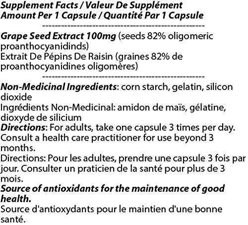 OPC Grape Seed Extract 100mg 180c - [12 bottles] Liver Care by Total Natural (Image #2)