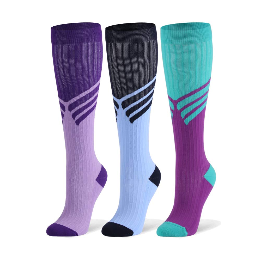 Compression Socks for Men & Women - 20-30mmHg 2 to 6 Pairs Compression Stockings for Runners, Edema by Fotociti