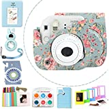 Wogozan 9 In 1 Case Accessories Package for Fujifilm Instax Mini 9 Mini 8+ Mini 8 ( Rose Blue Kit )