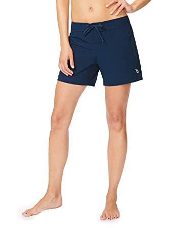 """121ad840aa Baleaf Women's 5"""" Board Short with Built-in Liner (Back Elastic  Waistband)"""