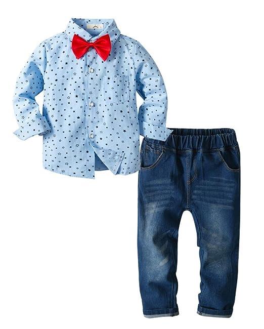 Amazon.com: Conjunto de traje para bebés y niños con diseño ...