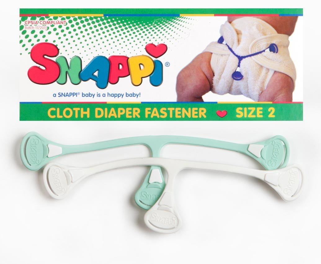 Size 1, Girl Snappi nappy fastener for cloth nappies