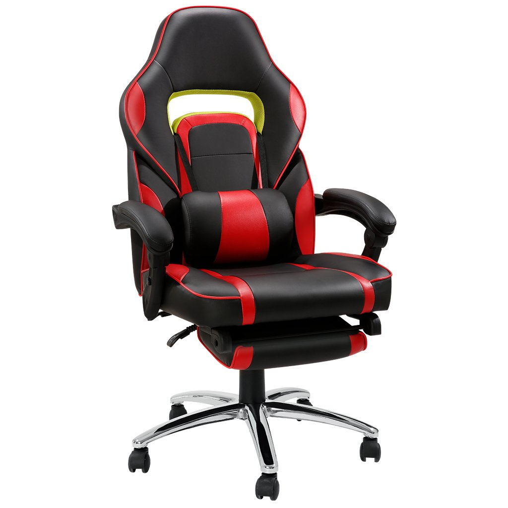 Gearbest LANGRIA Ergonomic High-Back Faux Leather Racing Style Computer Gaming Executive Office Chair