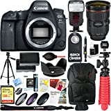 Canon EOS 6D Mark II 26.2MP Full-Frame Digital SLR Camera with EF 24-70mm II USM Lens & Dual Battery Bundle