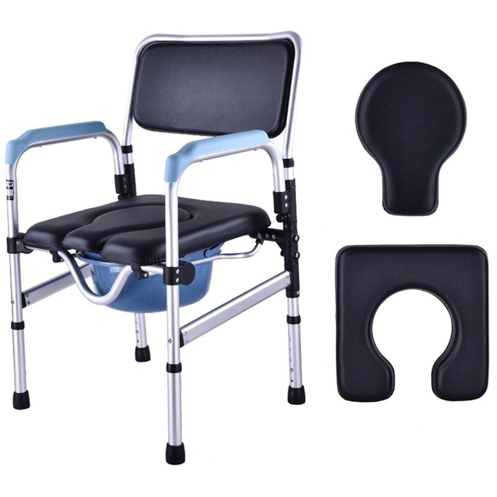 贈り物 高齢者障害者のアルミニウム合金のトイレの椅子ポータブル高さ調節可能な耐久性のある丈夫なバスルームシャワースツールバケツアンチスリップ手すりトイレ椅子妊娠中の女性のトイレシートMax.150kg B07F6TM549 B07F6TM549, 【大注目】:e9aaafcf --- eastcoastaudiovisual.com