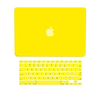low priced f9b07 c8e92 TOP CASE - 2 in 1 - Ultra Slim Light Weight Rubberized Hard Case Cover and  Keyboard Cover Compatible with Apple Old Generation MacBook Pro 13-inch 13