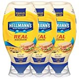 Hellmann s Real Mayonnaise, Squeeze 20 oz, 3 count