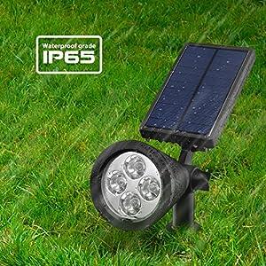 double eclairage exterieur led mpow lampe solaire jardin. Black Bedroom Furniture Sets. Home Design Ideas