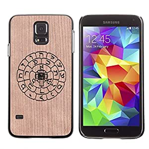 - / Rune Mayan Ancient Symbols Astrology - - Funda Delgada Cubierta Case Cover de Madera / FOR Samsung Galaxy S5 I9600 G9009 G9008V / Jordan Colourful Shop/