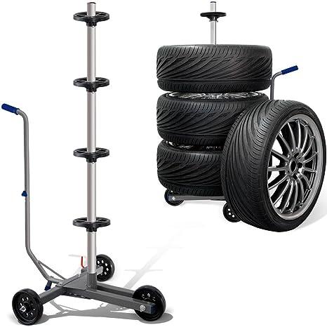 Amazon Fr Deuba Support De Rangement Pour Pneus Mobile Roulant Avec 4 Reperes De Pneus
