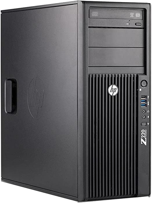 HP Desktop Z220 Workstation Tower - Intel Core i7 up to 3.9GHz, 16GB RAM, 480GB SSD, Windows 10 Pro (Renewed)