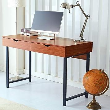 RayGar - Escritorio para ordenador de oficina con 2 cajones y mesa ...