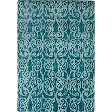 Surya Aberdine Teal-Light Gray 5'2 x7'6  Contemporary Area Rug
