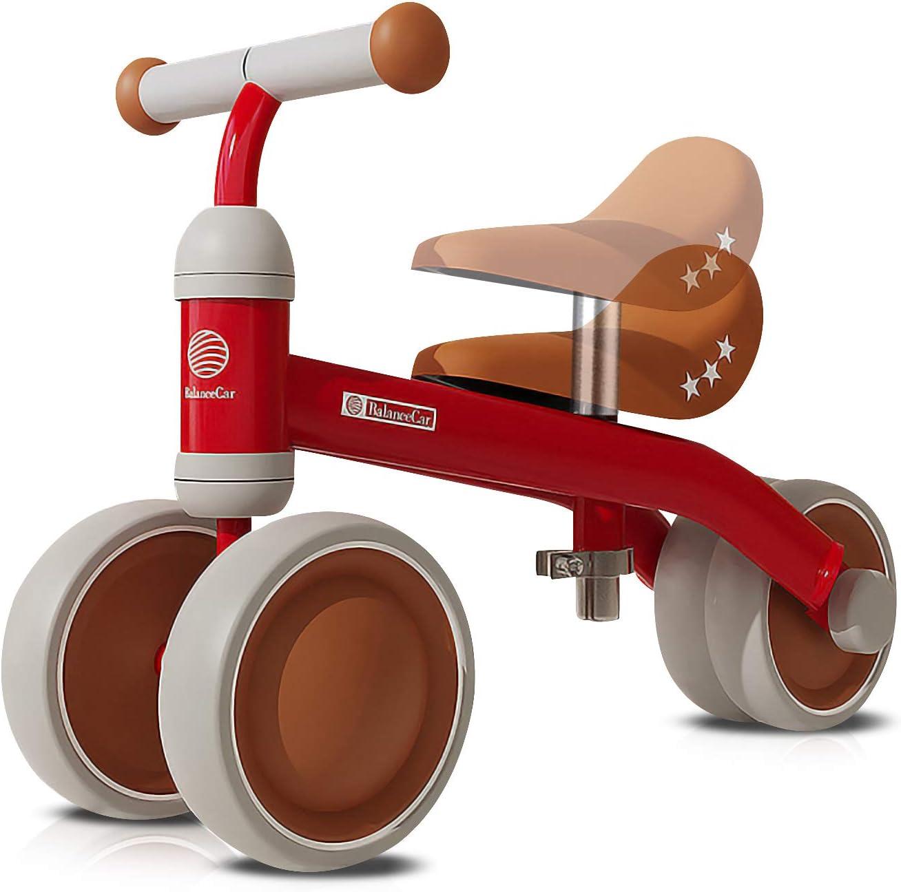 OLYSPM Bicicleta Sin Pedales para Niños 10-36 Meses,Triciclos Bebes,Correpasillos Bebes De Sillín Ajustables,Bicicleta Infantil Sin Pedales