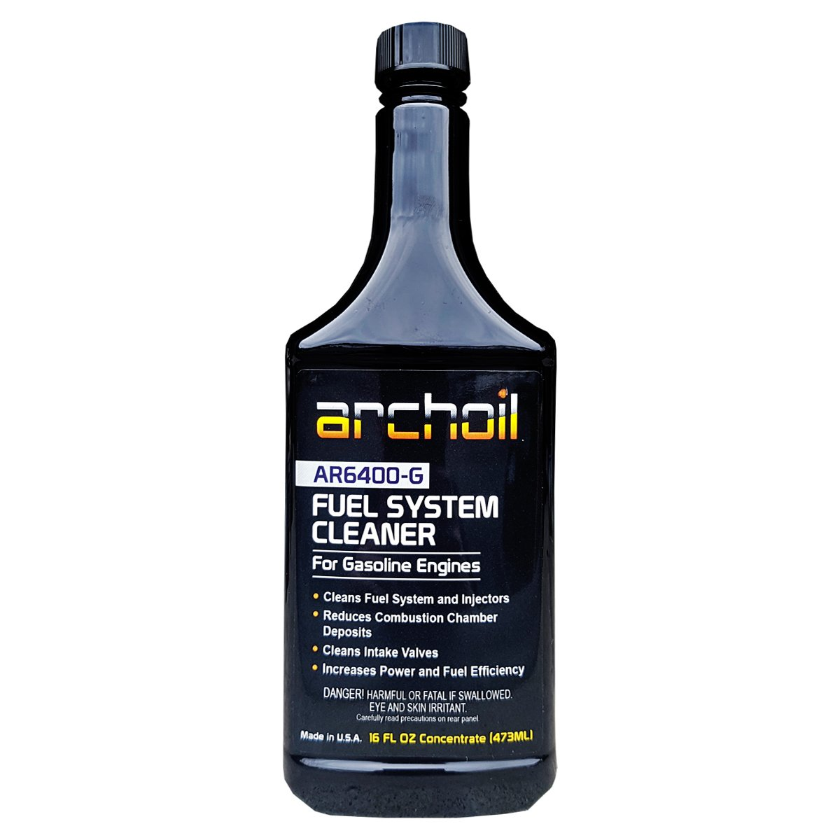AR6400-G (16Oz) - Professional Fuel System and Engine Cleaner (Treats 25 Gallons of Gasoline) ARCHOIL AR6400-16 G