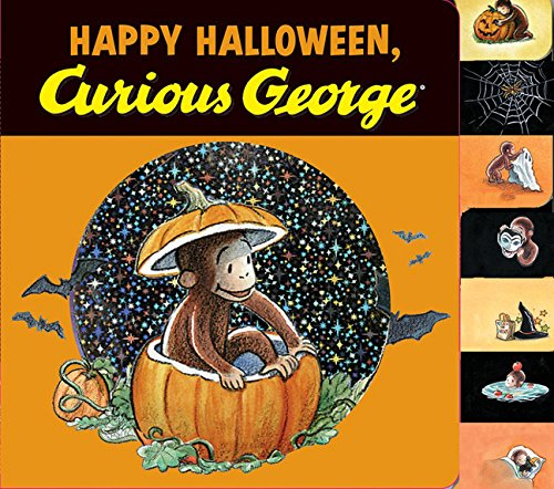 Happy Halloween, Curious George tabbed board book -