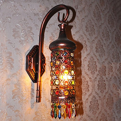 AOKARLIA Bohemia Sconce Lamps Bedside Lights, Retro Balcony Lamp/Courtyard Wall Lamps,B