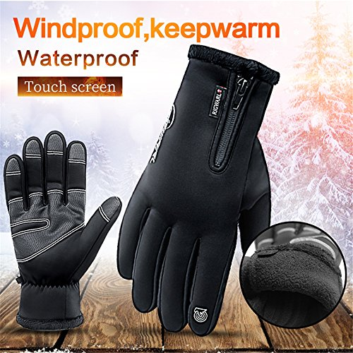 Winter Gloves Touch Screen Motorcycle Gloves Waterproof