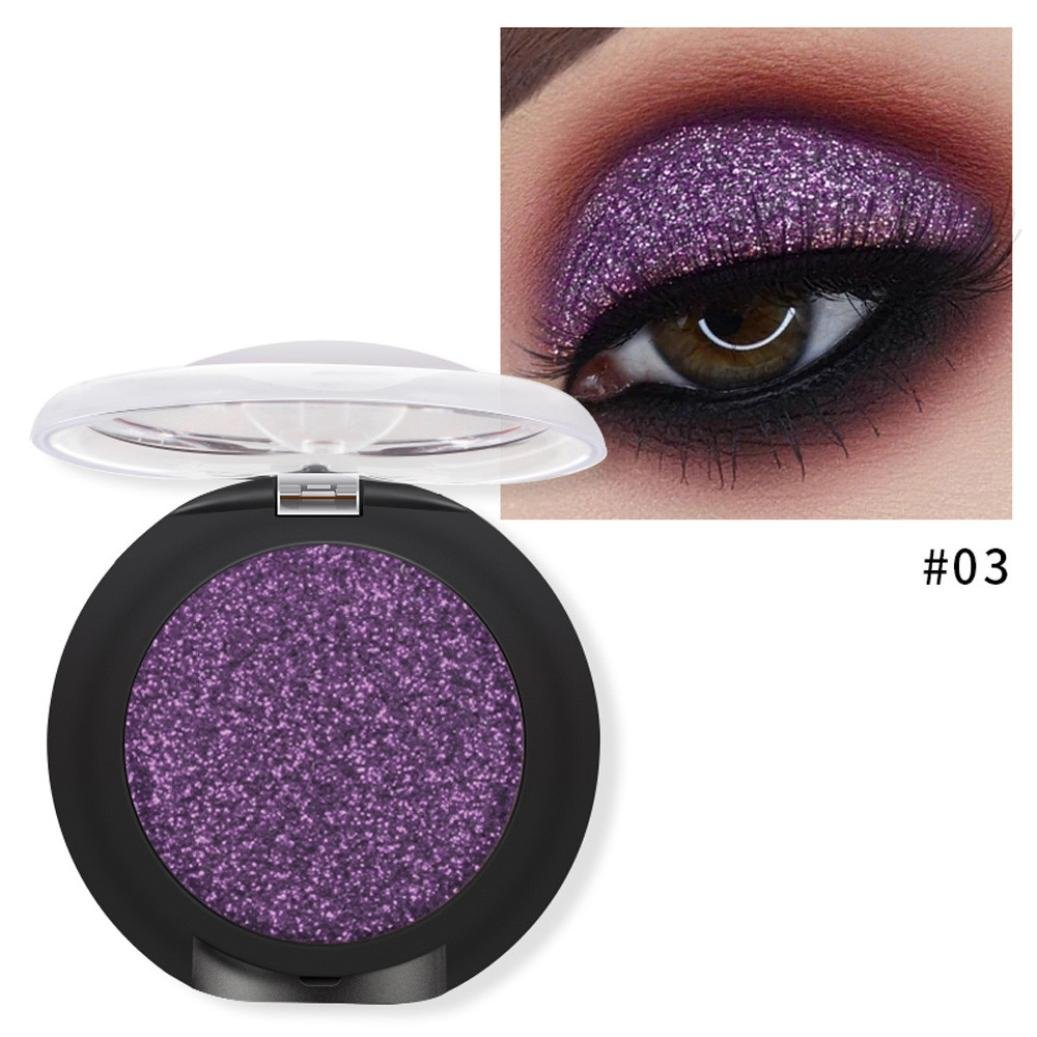 Best eyeshadow palette Cosmetics, Makeupstore Long Lasting Diamond Glitter Shimmering Colors Eyeshadow Palette Pearl Metallic Eye Shadow Press Powder Cosmetic Makeup palette organizer (C)