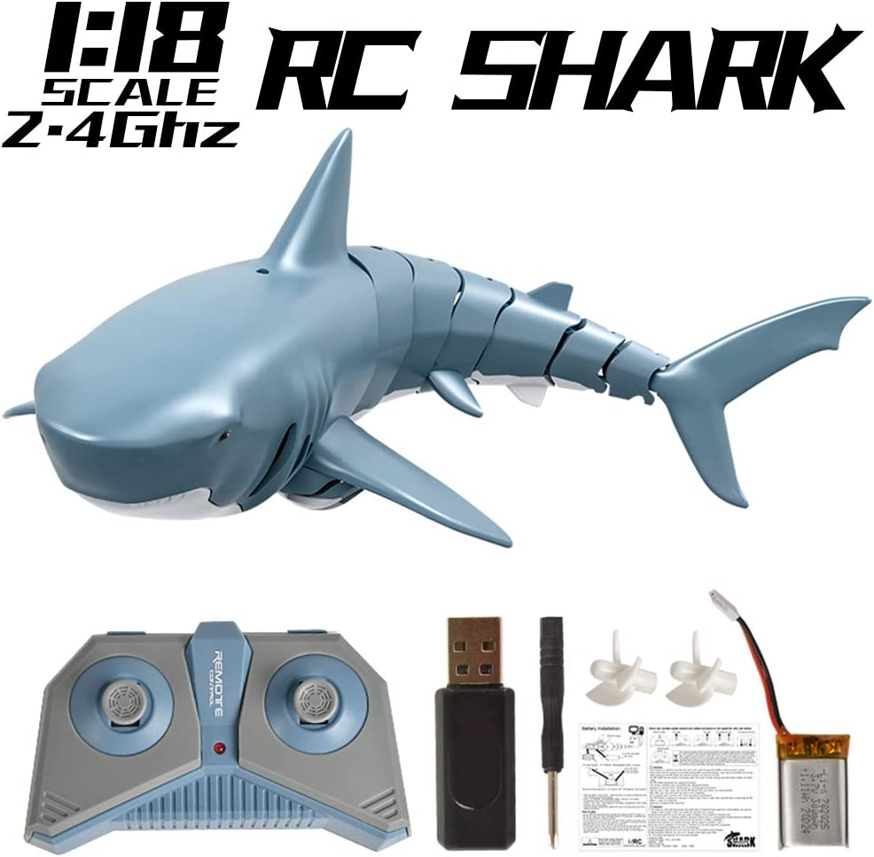 EsOfficce Remote Control Shark Toy, Rechargeable Electric Toy RC Shark Pool Toys for Kids
