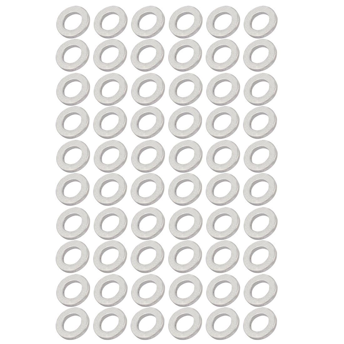 uxcell 8mmx14mmx2mm Engine Oil Drain Plug Crush Gasket Aluminum Washer Seals 60pcs