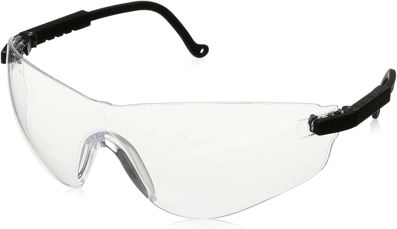 Honeywell Home Clear Safety Glasses, Anti-Fog, Wraparound, Black/Clear (S4500X)
