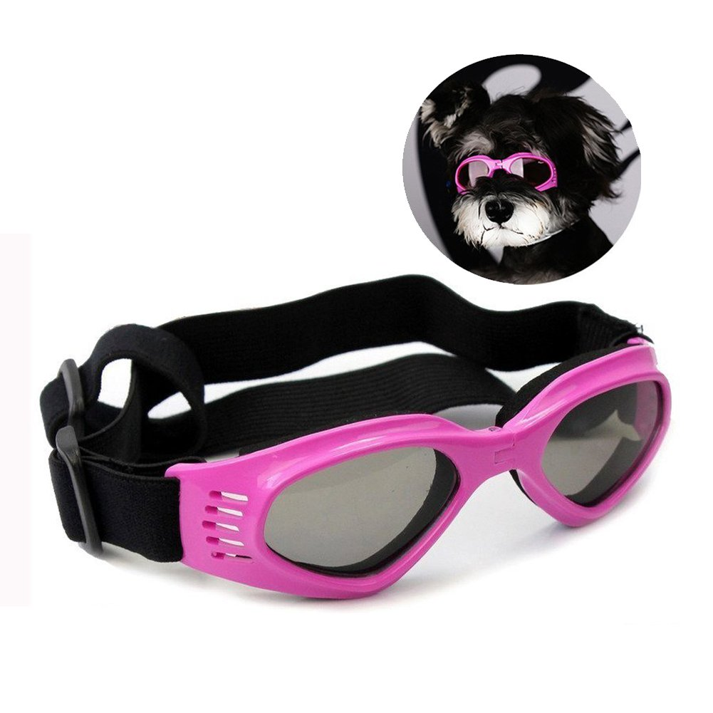 Enjoying Pet/Dog Puppy UV Goggles Sunglasses Waterproof Protection Sun Glasses For Dog - Pink