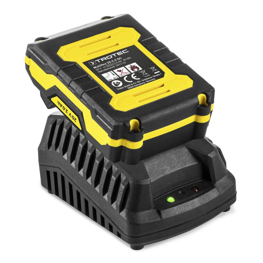 2,0 Ah, 2 Gang, 35 Nm, 25+1 Drehmomentstufen, LED-Arbeitsleuchte TROTEC Akku-Bohrschrauber PSCS 11-20V