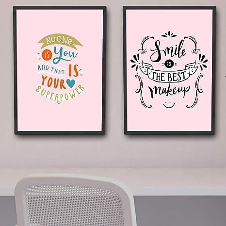Quadros Decorativos Frases Motivacionais Inspiração Sala