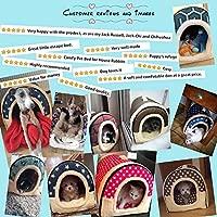 ANPI 2 en 1 Casa y Sofá para Mascotas, Lavable a Máquina Casa Nido Cueva Cama de Perro Gato Puppy Conejo Mascota Antideslizante Plegable Suave ...