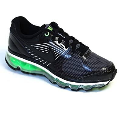 reputable site 32ee5 6ff99 Nike Air Max 2010 Big Kids Style Shoes 414309, Black Black-Electric Green