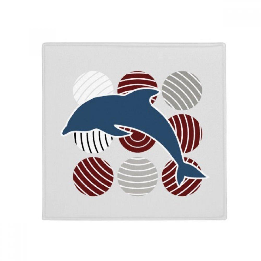 DIYthinker Dolphin Circle Cartoon Illustrate Anti-Slip Floor Pet Mat Square Home Kitchen Door 80Cm Gift