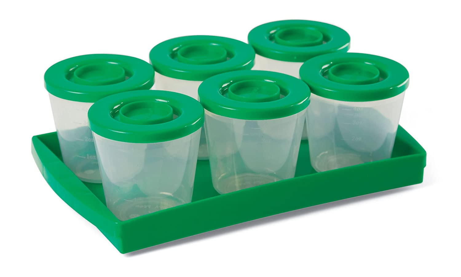 Fresh N Freeze 4 Ounce Reusable Baby Food Containers 6-Pack